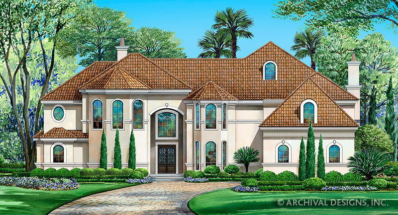 Spanish House Plans | Stock Home Plans | Archival Designs, Inc. on narrow house plans with stairs, narrow house plans with balcony, narrow house plans with front porch, narrow house plans with carport, narrow house plans with loft, narrow courtyard design, narrow house plans with rear garage,