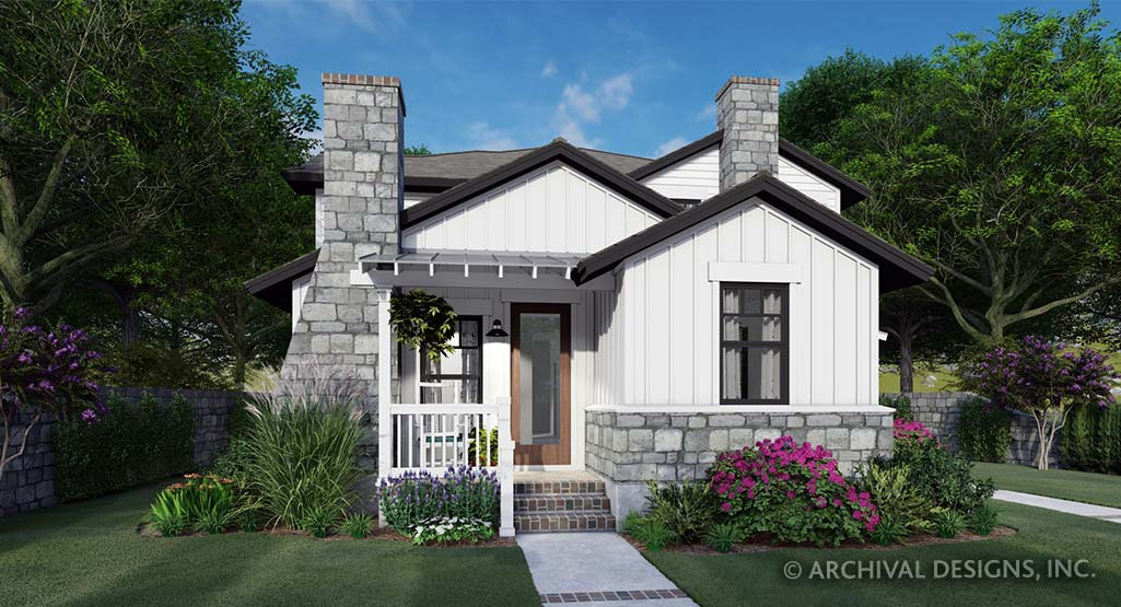 Twin Creek Cottage Duplex Plan on