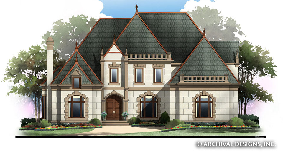 Castle House Plans | Stock House Plans | Archival Designs, Inc. on stucco houses with turrets, ranch homes with hip roofs, ranch homes with dormers, cabins with turrets, ranch homes with gables, floor plans with turrets, ranch homes with shingle siding, ranch homes with cupolas, cottages with turrets, mansions with turrets, ranch homes with courtyards,