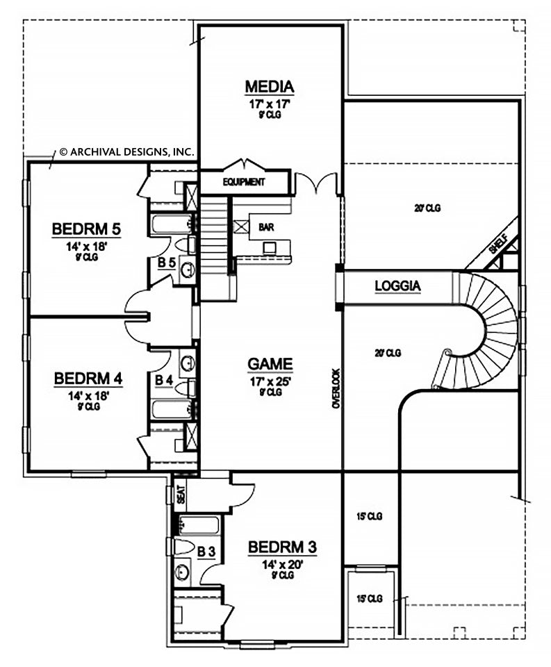 Memphis Valley second floor, floor plan
