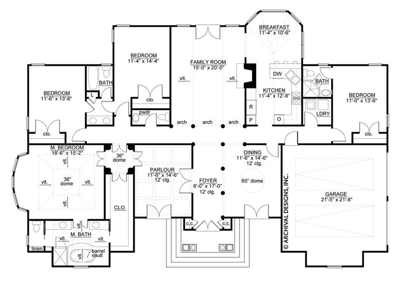 Maggoire first floor, floor plan