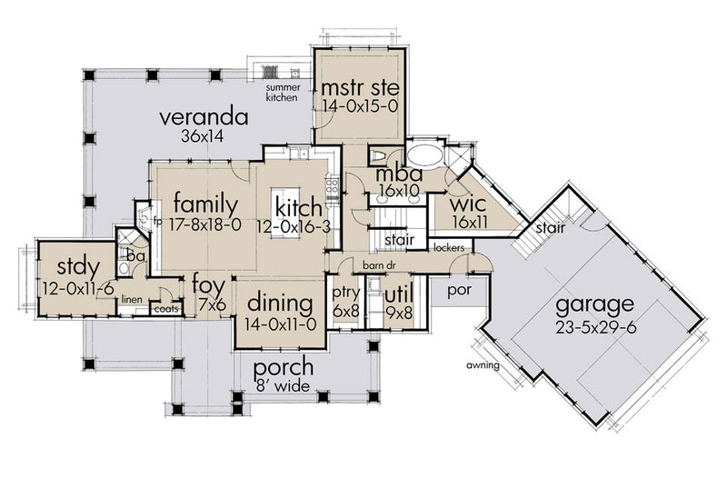 Magnolia Farmhouse, floor plan