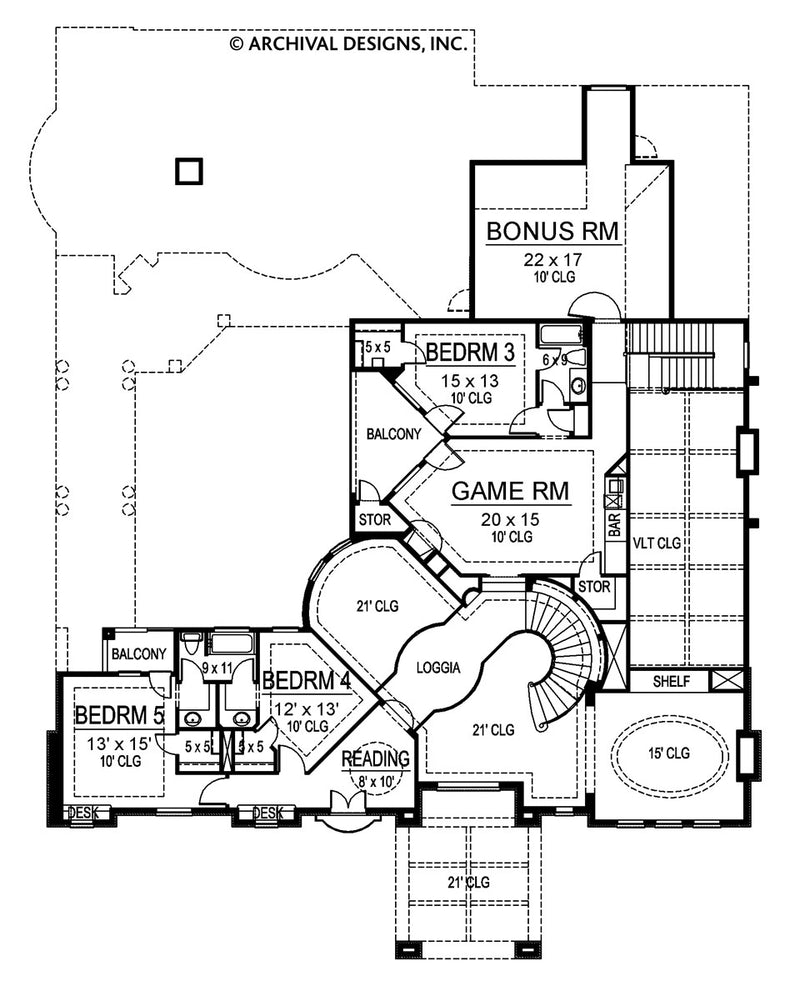 Malmaison second floor, floor plan