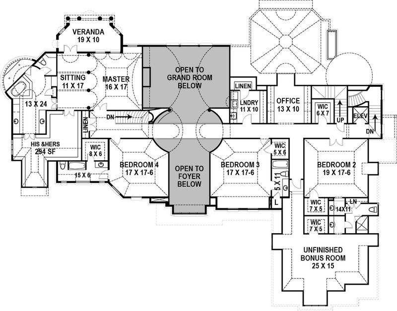 Manderston Estate Second Floor Plan