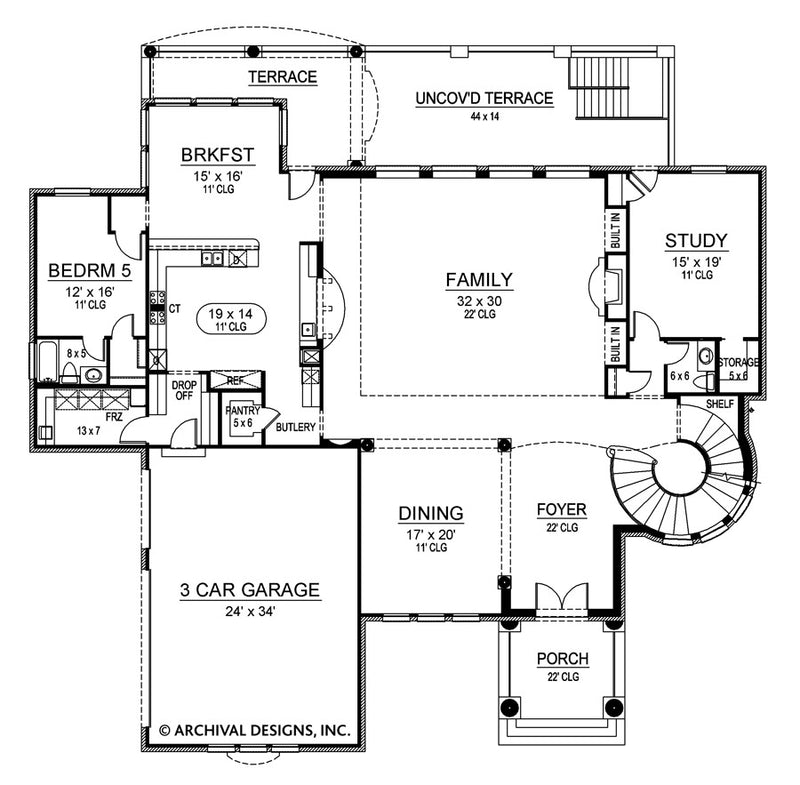 Marseilles Court first floor, floor plan