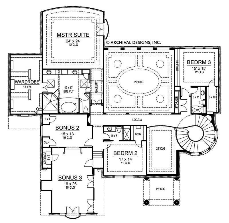 Marseilles Court second floor, floor plan