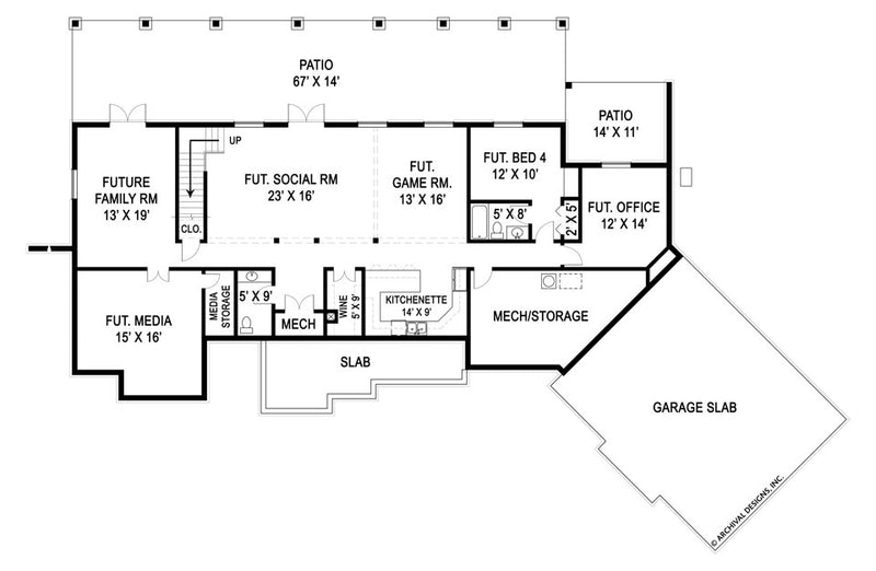 Marymount basement floor plan
