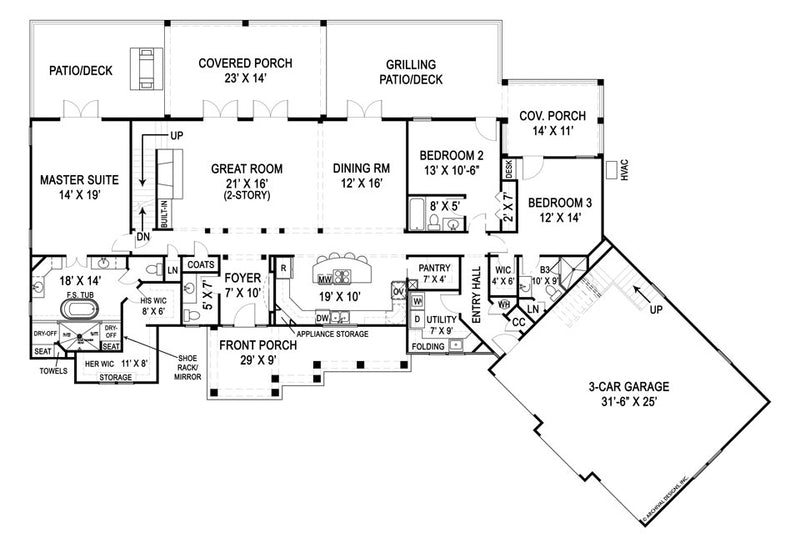 Marymount first floor, floor plan