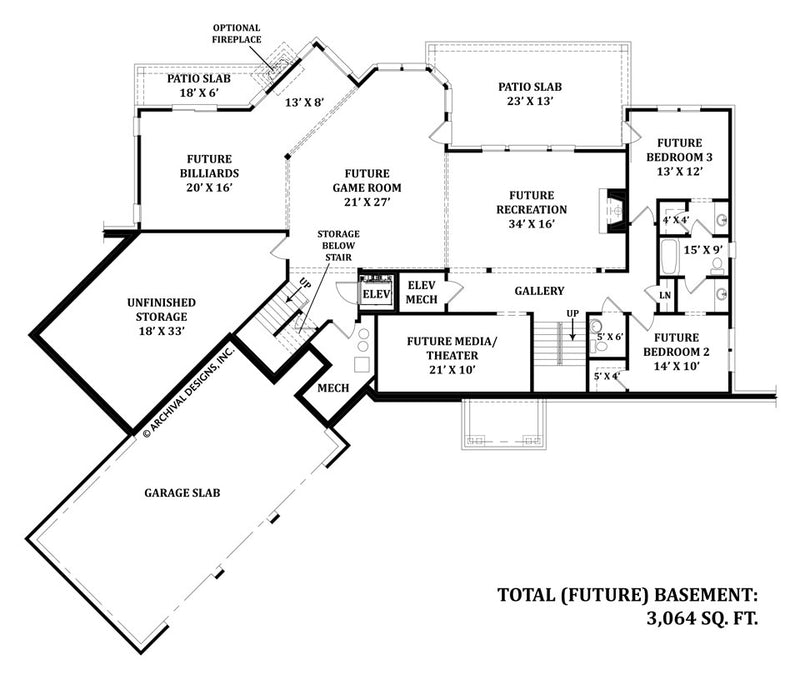 Mayberry Place basement floor plan
