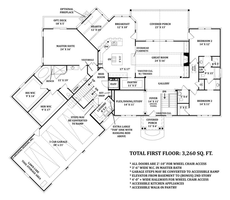 Mayberry Place first floor, floor plan