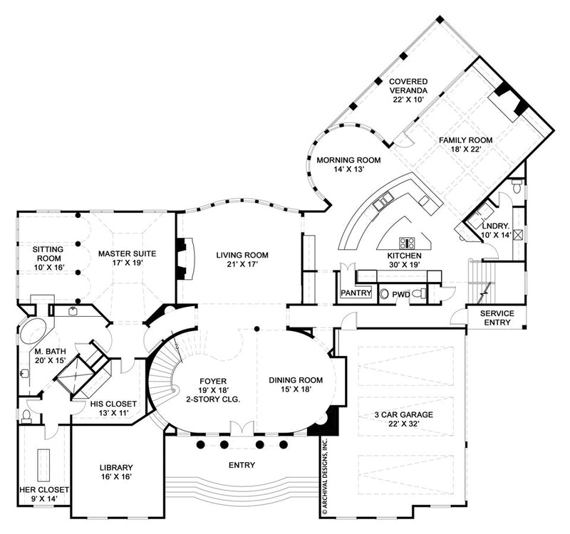 Mayerilla first floor, floor plan