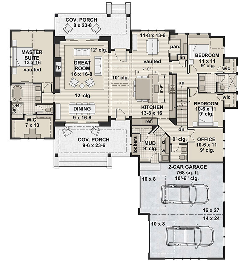 Meadowcove, first floor plan