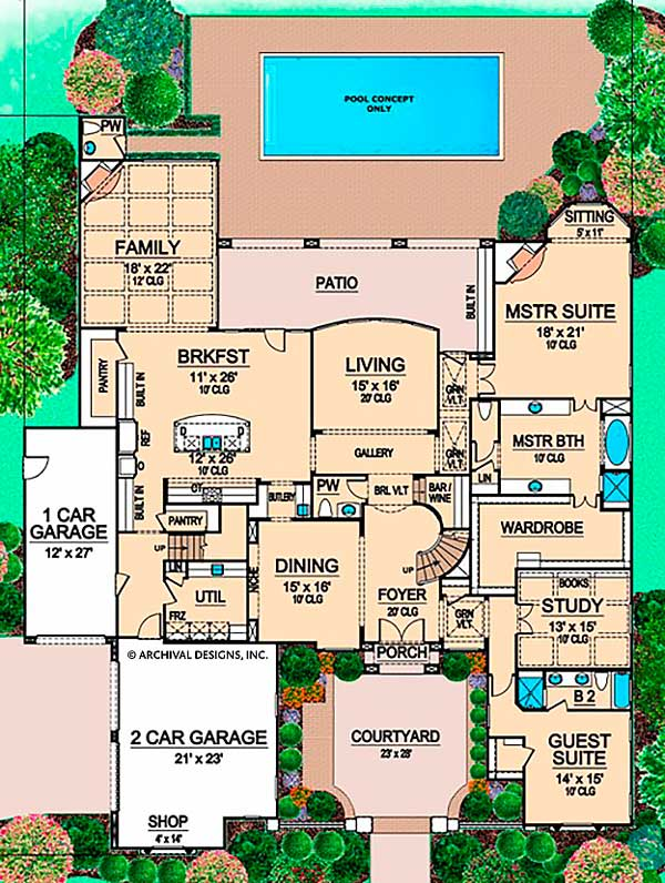 Memorial Park first floor, floor plan
