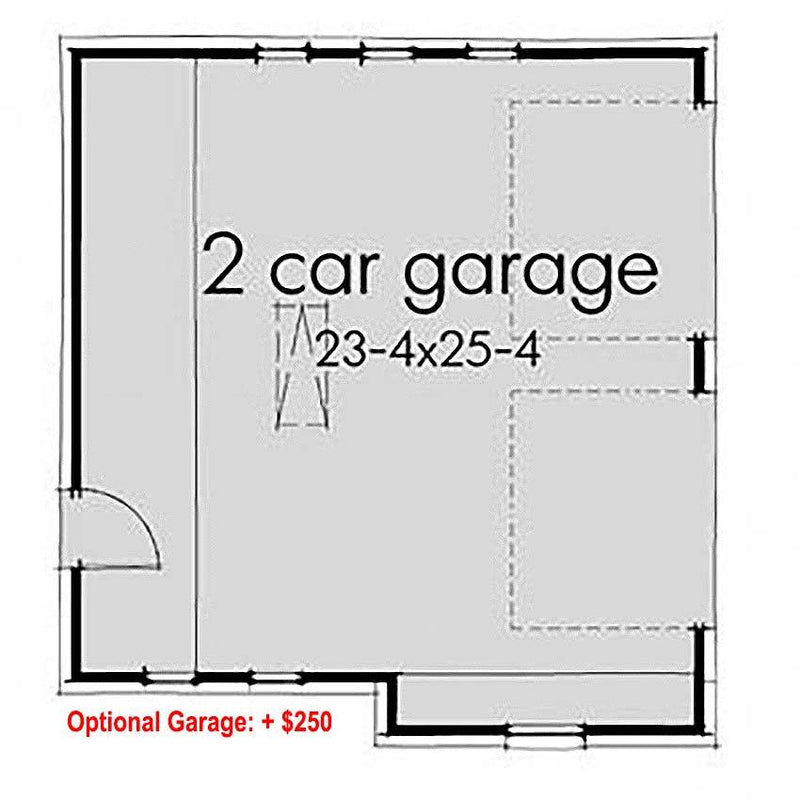 Optional Garage Floor Plan ($250 add-on)