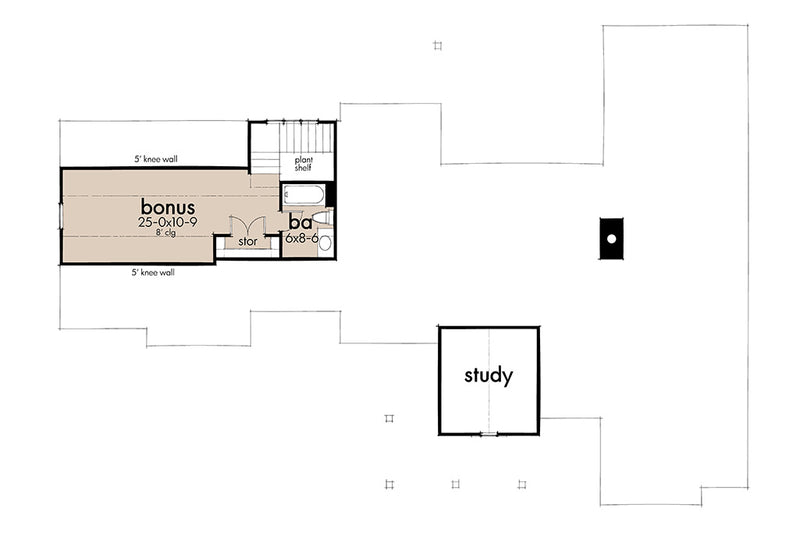 Mill Creek Cottage | Second Floor Plan
