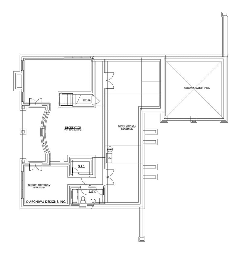 Millington basement floor plan