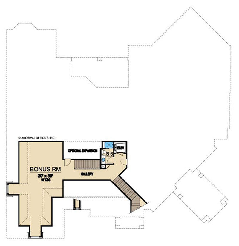 Mira Vista second floor, floor plan