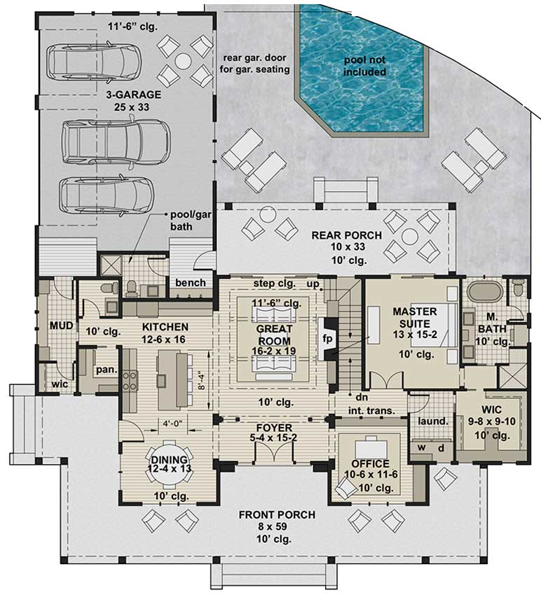 Misty Falls, first floor plan