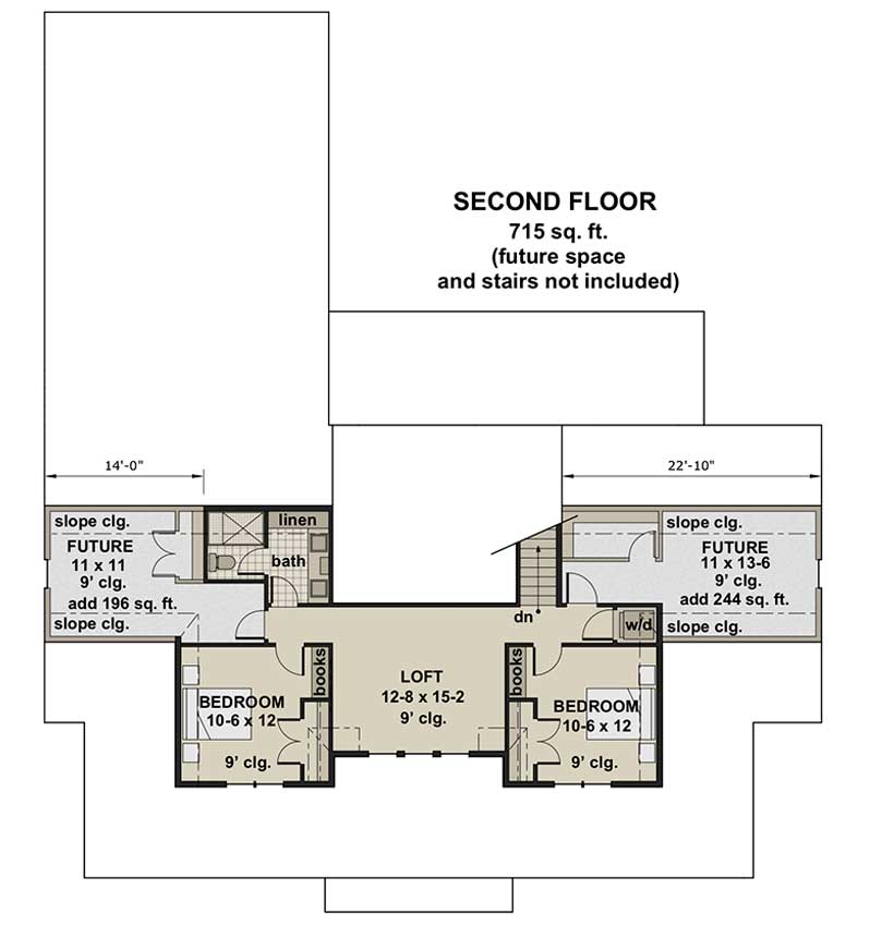 Misty Falls, second floor plan