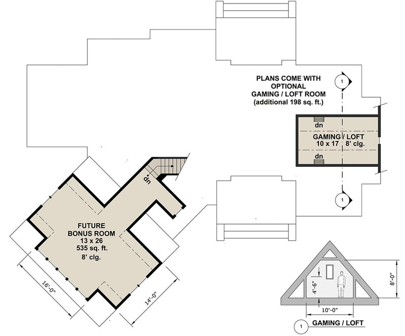 Misty Grove, second floor plan