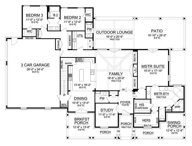 Mockingbird Lane, first floor plan