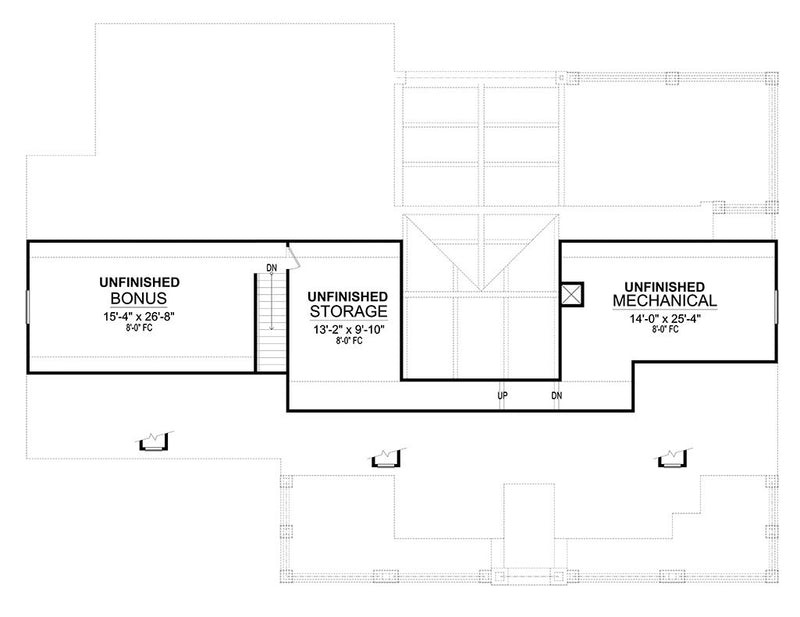 Mockingbird Lane, second floor plan