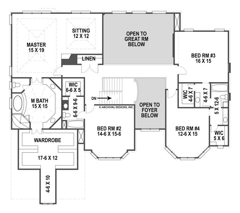 Monaghan second floor, floor plan