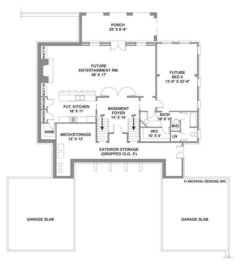 Monclay basement floor plan