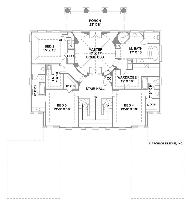 Monclay second floor, floor plan