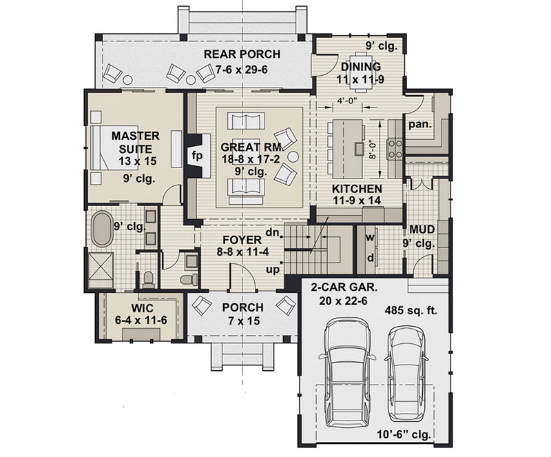 Mossy Pine Farm, first floor plan