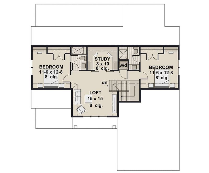 Mossy Pine Farm, second floor plan