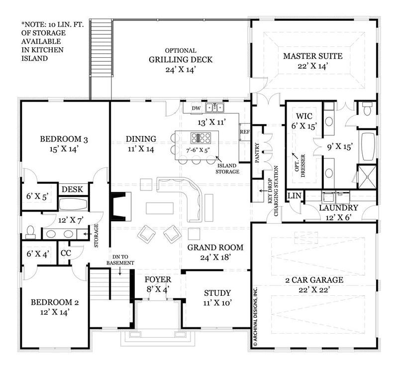 Mystic Lane first floor, floor plan