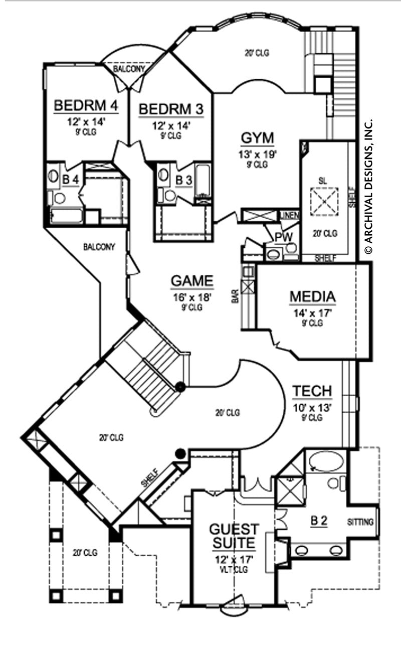 New South Whales second floor, floor plan