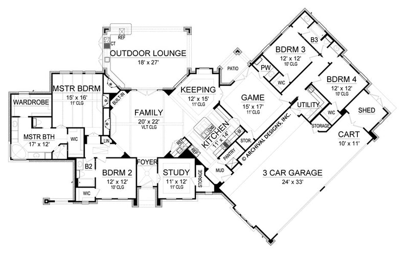 Newport House Plan first floor, floor plan
