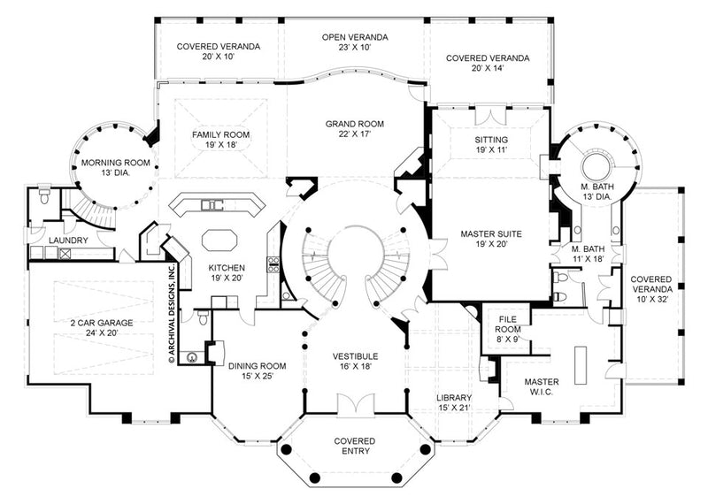 Old Paces first floor, floor plan