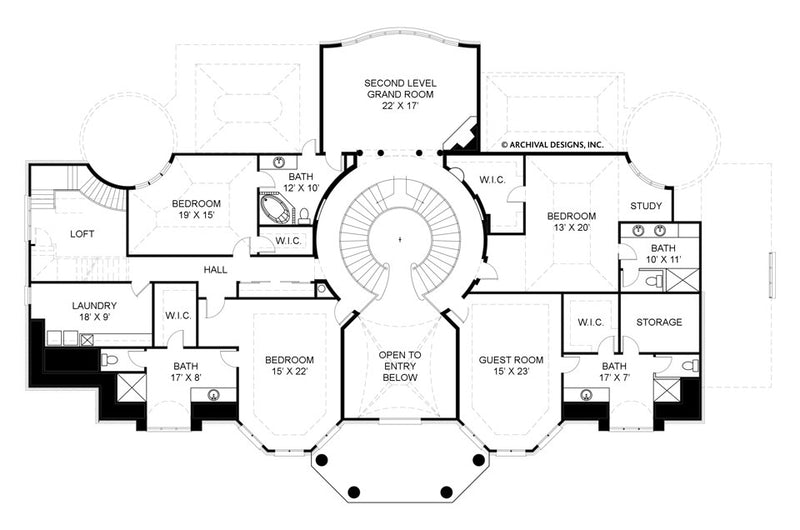 Old Paces second floor, floor plan