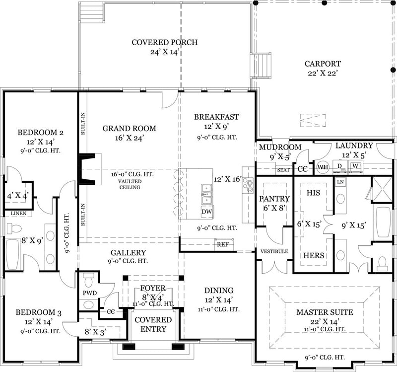 First Floor Floor Plan | Old Wesley House Plan