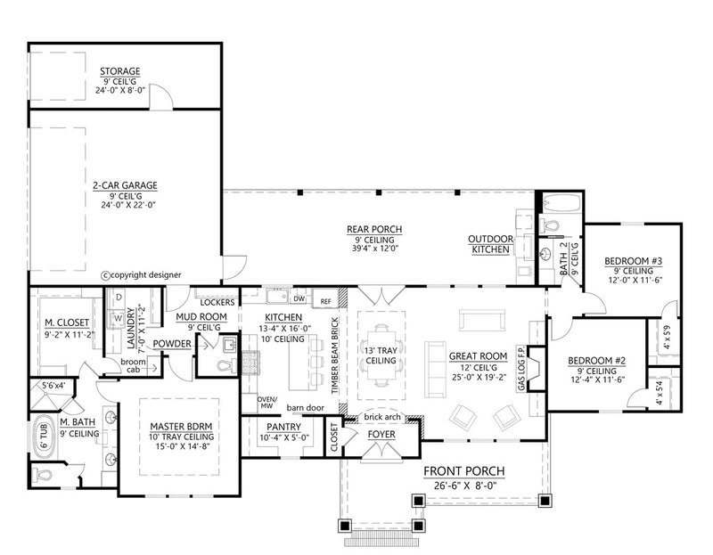 Palmetto House Plan | First Floor Plan