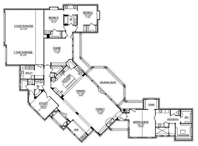Park City, first floor plan