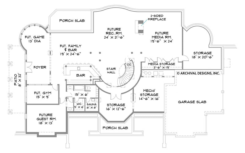 Park Place basement floor plan