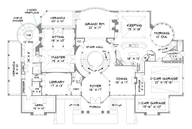 Park Place first floor, floor plan