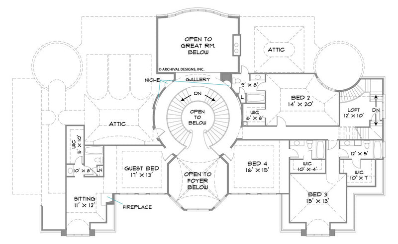 Park Place second floor, floor plan