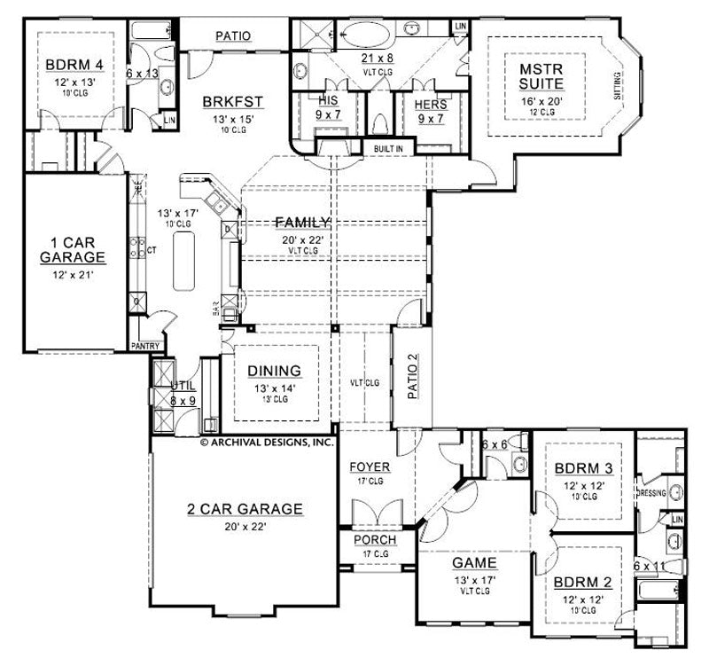 Peavy Place first floor, floor plan