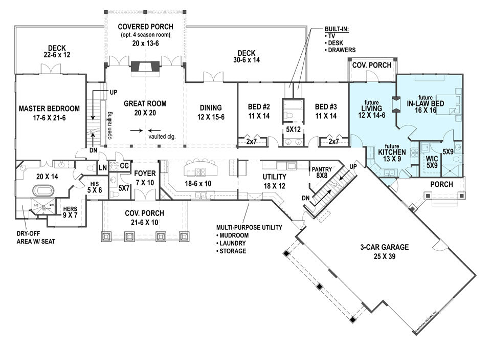 Pepperwood Place House Plan on house plans with separate apartment, ranch style house addition plans, portable mother in law apartment,