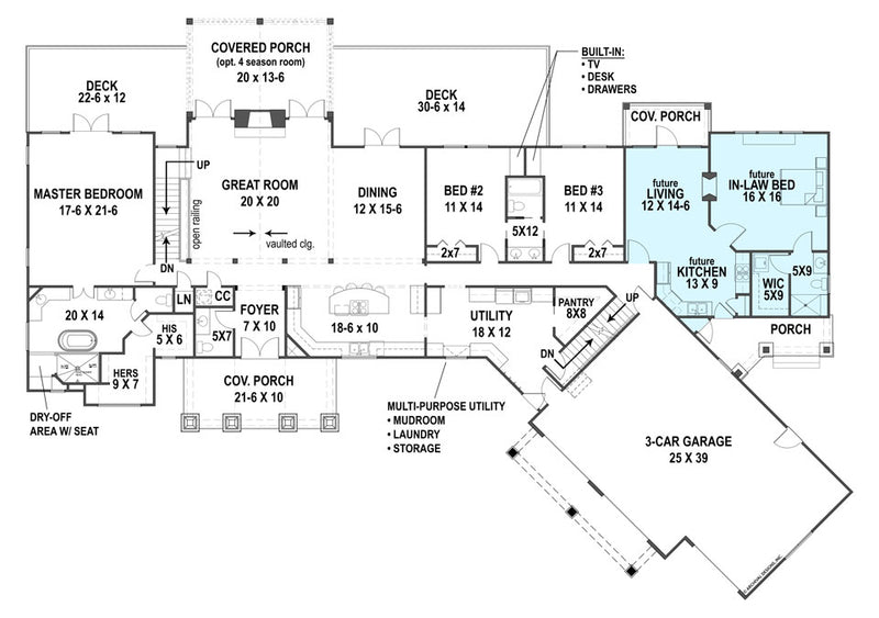 Pepperwood Place first floor, floor plan