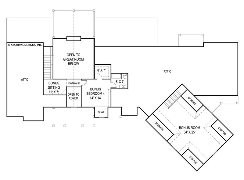 Pepperwood second floor, floor plan