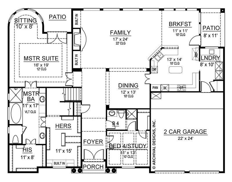 Pharsalia first floor, floor plan