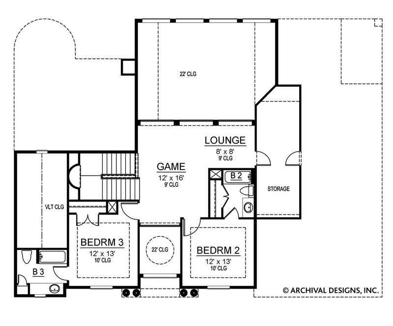 Pharsalia second floor, floor plan