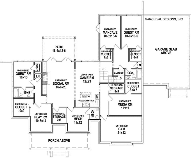 Basement Floor Plan | Pinecone Trail House