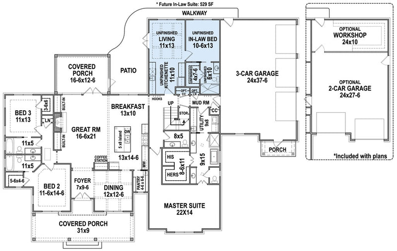 Pinecone Trail, first floor plan